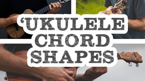 ukulele chord shapes banner cover