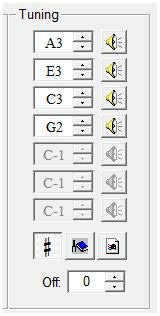tuning window and offset powertab