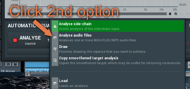 analyse audio files mfreformeq