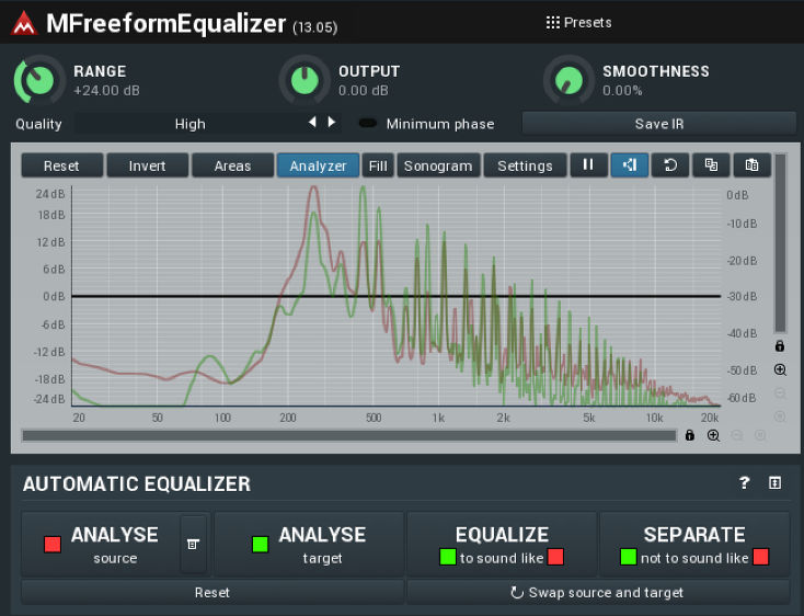 source and target eq curves mfreeformequalizer