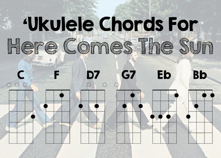 "Ukulele ukulele chords here comes the sun : Here Comes The Sun"" By The Beatles"