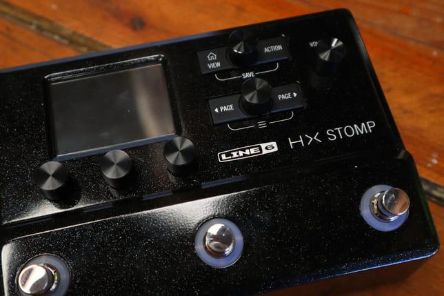 hx stomp front panel