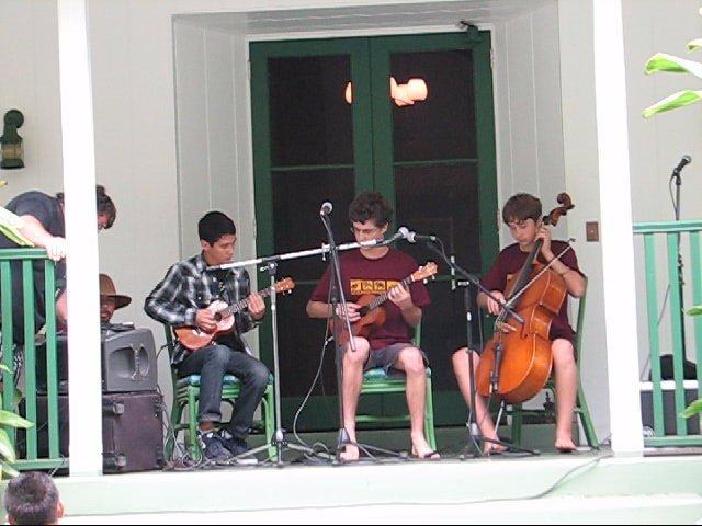 brad bordessa, micah wang, joe mann at the kahumoku camp concert