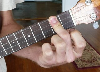 d major ukulele chord