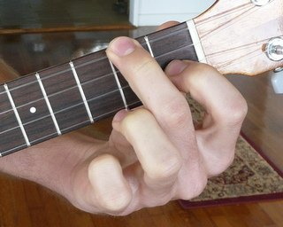 Ukulele chords with finger placement