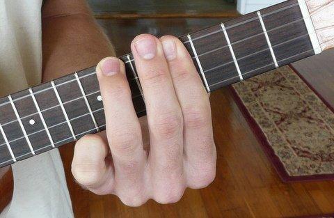 c#/db minor ukulele chord