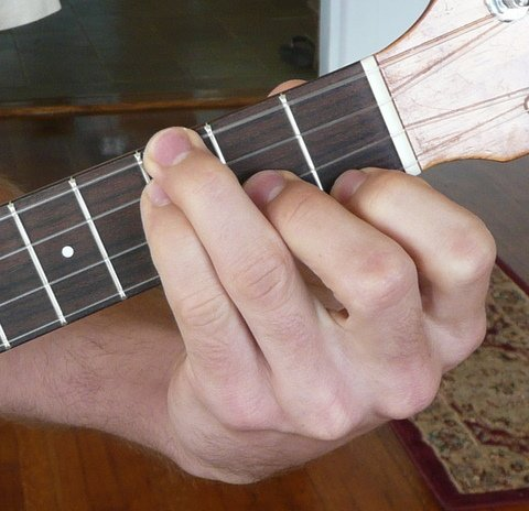 d# eb minor ukulele chord fingering