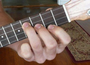 e minor ukulele chord fingering