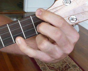 f minor ukulele chord fingering