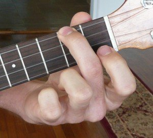 a minor ukulele chord fingering