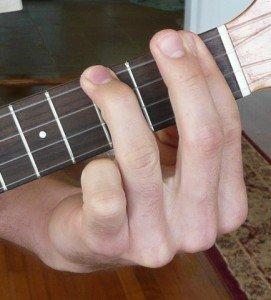 a#/bb minor ukulele chord