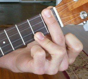 c# dominant 7 ukulele chord fingering