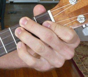 f dominant 7 ukulele chord fingering
