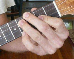 f# gb dominant 7 ukulele chord fingering