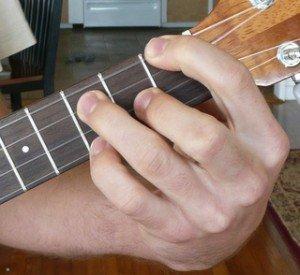g# ab dominant 7 ukulele chord fingering