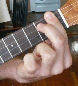 a# Bb dominant 7 ukulele chord fingering