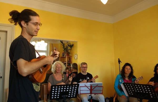 teaching ukulele classroom