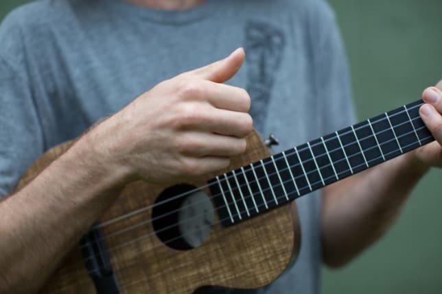 chunk strum ukulele before