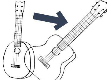 hand drawn ukuleles arrow