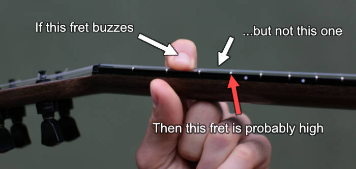 diagnose high fret buzzing ukulele