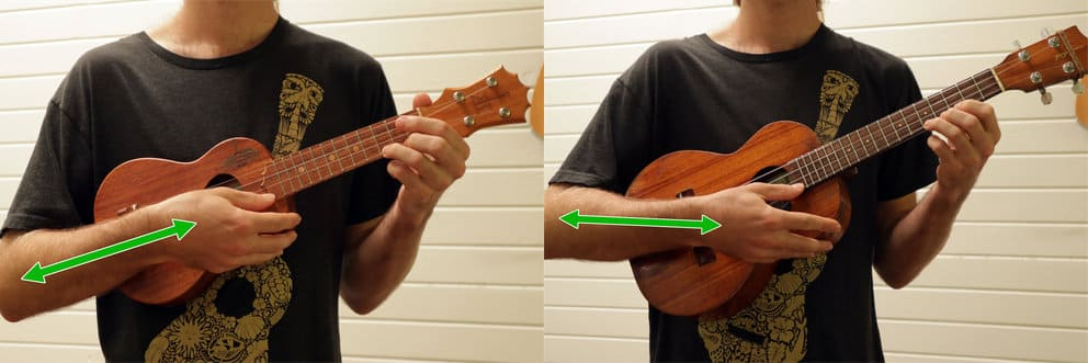 difference between holding soprano and tenor uke infographic