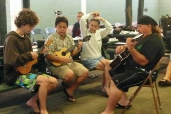 jamming ukulele and slack key guitar