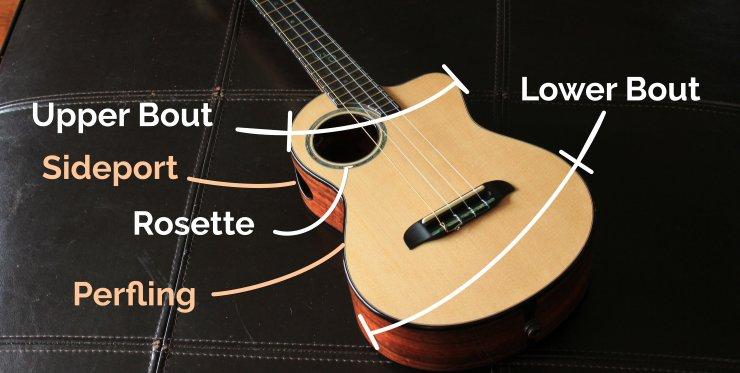 ukulele body parts
