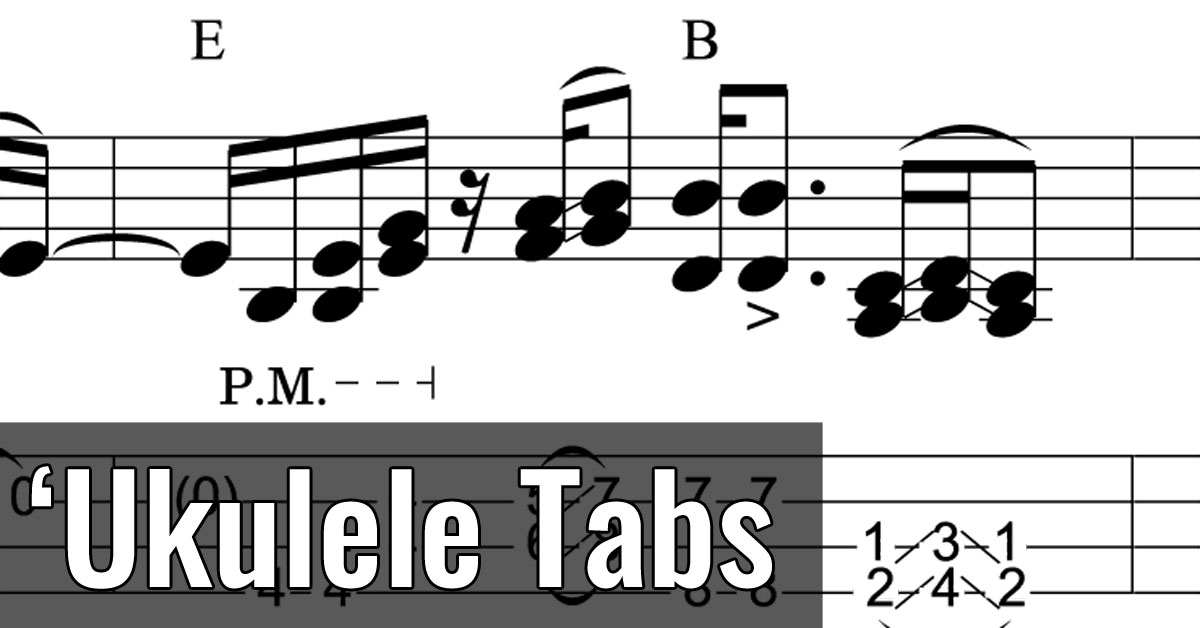 Ukulele Tabs Fingerpicking Tablature Live Ukulele