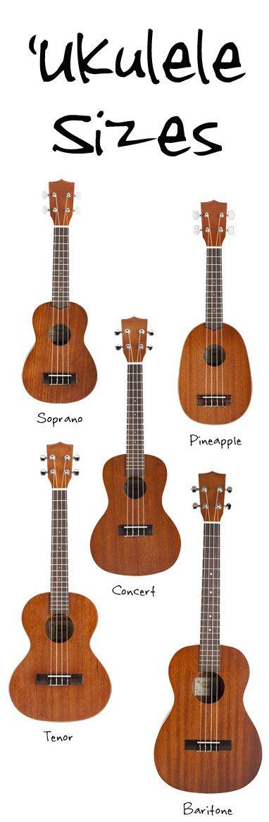 Ukulele Sizes: Soprano, Concert, Tenor, and Baritone