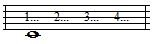 whole note with counts